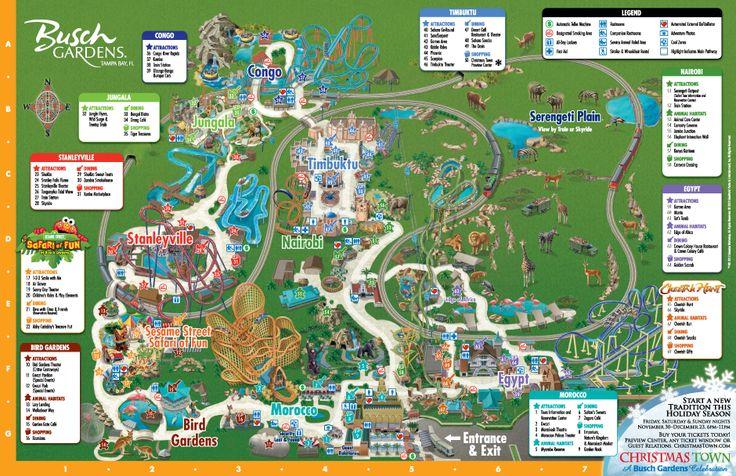 Park Map Busch Gardens Tampa Bay Orlando, FL