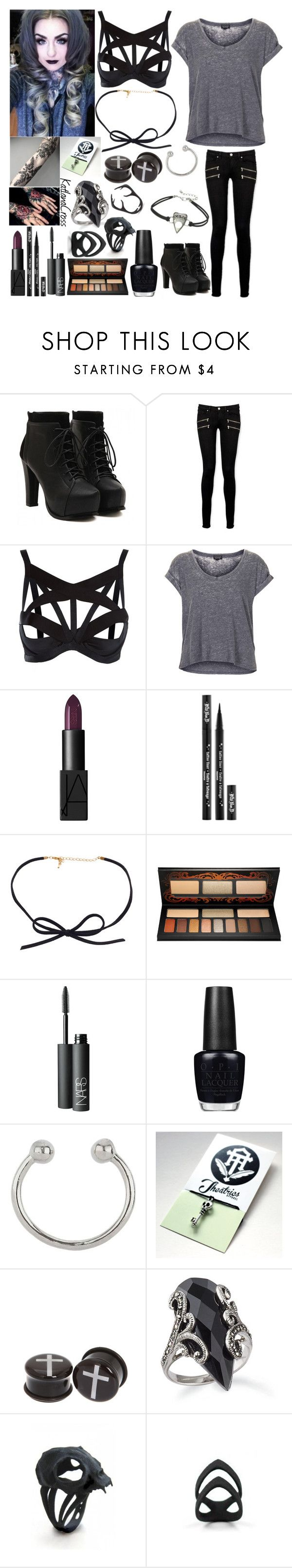 """Tattoo convention with Ryan Ashley Malarkey"" by katlanacross ❤ liked on Polyvore featuring Paige Denim, Agent Provocateur, Topshop, NARS Cosmetics, Kat Von D, OPI, Miss Selfridge, The Rogue + The Wolf, contestentry and RyanAshleyMalarkey"