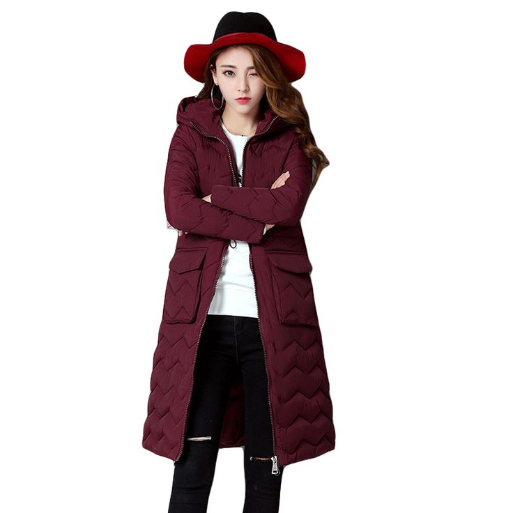 High Quality Warm Wadded Winter Jacket Women Long Slim Cotton Jacket Padded Quilted Coat Outwear Chaquetas Parka Feminina CM1460 #Affiliate