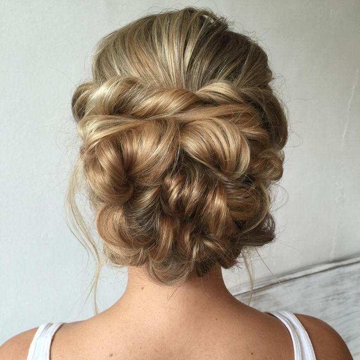 The back of the bridal look that I taught at my recent 2-day workshop in Nashville at @dandelionnashville ✨❤️