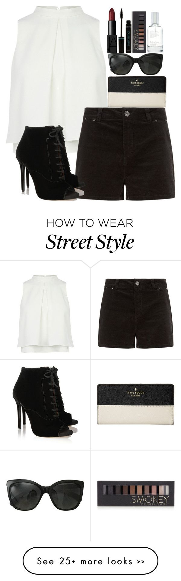 """""""Simple Street Style"""" by ecomedygirl16 on Polyvore featuring Tabitha Simmons, NARS Cosmetics, Forever 21, Splendid, Chanel and Kate Spade"""