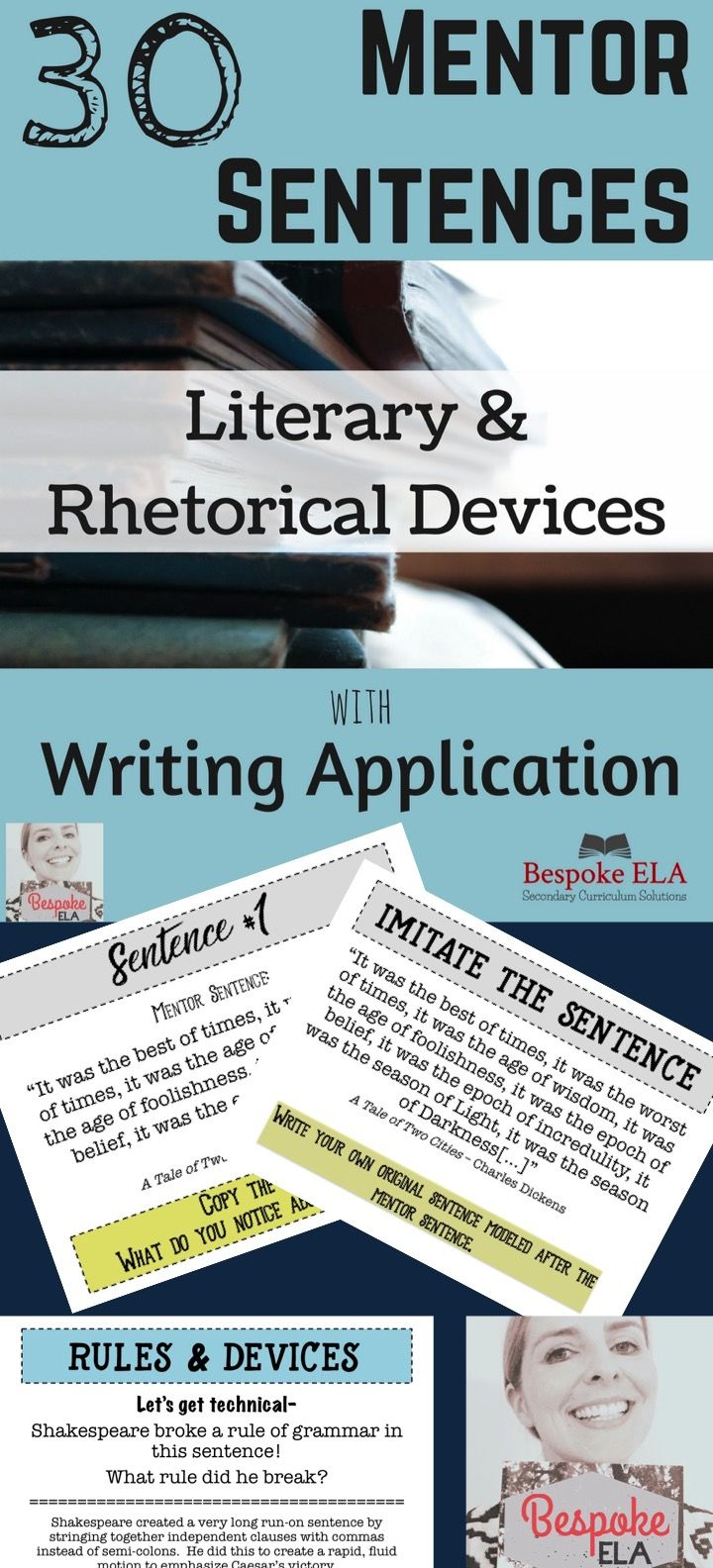 best ideas about rhetorical device argumentative 30 mentor sentences for literary rhetorical devices writing revision