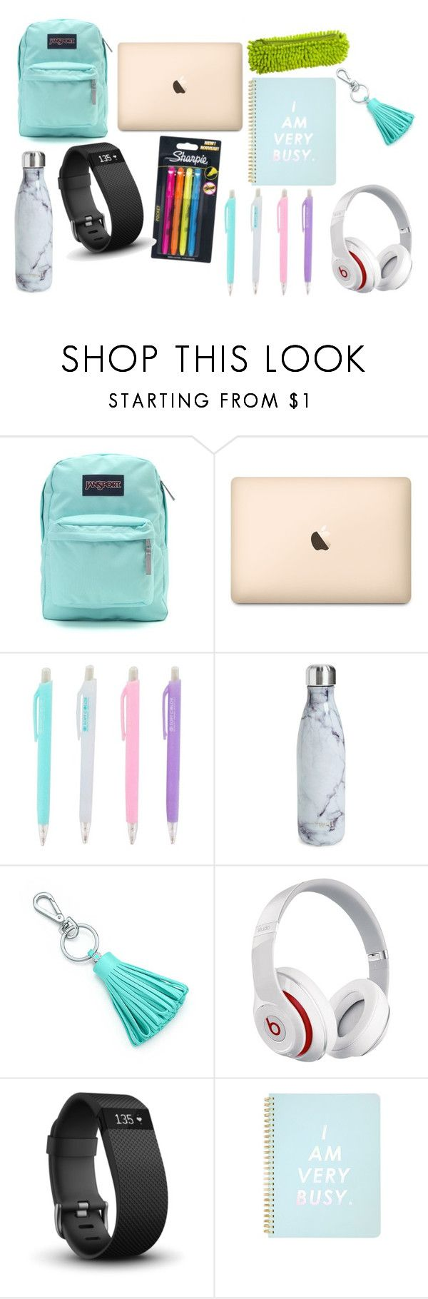 """school set 2"" by smithylol on Polyvore featuring interior, interiors, interior design, home, home decor, interior decorating, JanSport, Sharpie, S'well and Tiffany & Co."