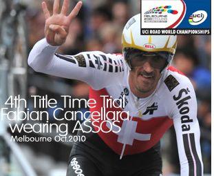 Viervoudig tijdrit-kampioen Fabian Cancellara draagt ASSOS.
