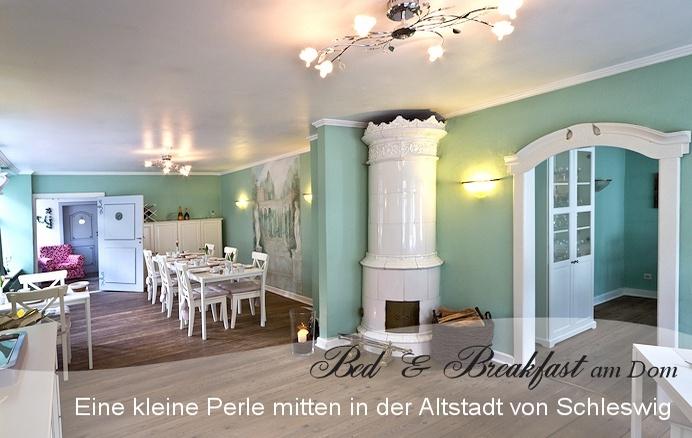 Bed & Breakfast am Dom Schleswig Frühstücksraum. Nina WE Winter 2011