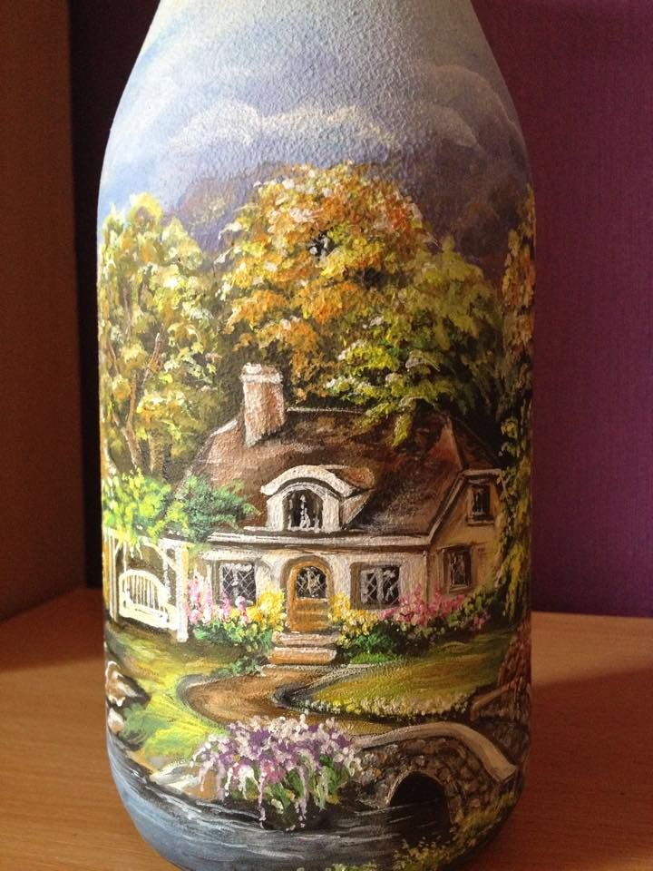 Herbst (DekoFlasche)  Bottle Art  Pinterest