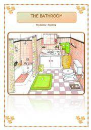 English teaching worksheets: The bathroom