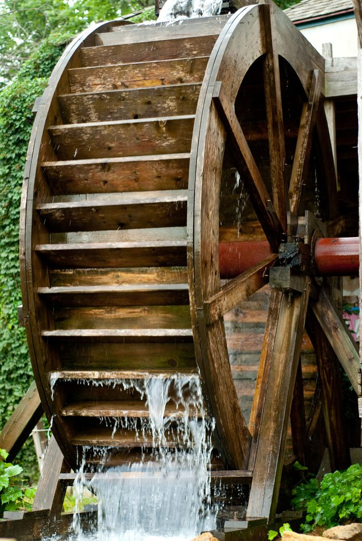 As the Water Turns. An old mill. Love it!