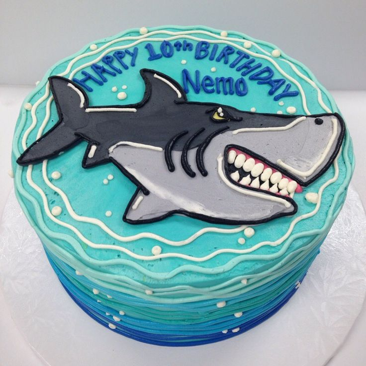 100perecent buttercream shark cake More