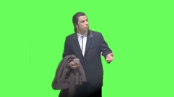 Confused John Travolta Meme (Green Screen)