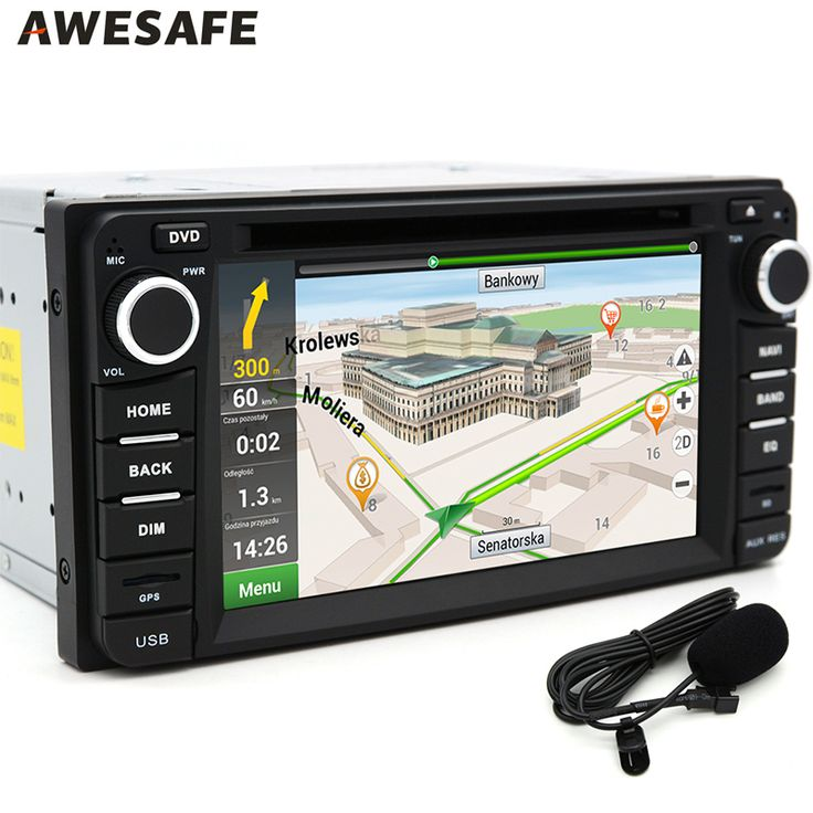 AWESAFE 2 Din GPS Android 6.0 for Toyota Corolla Car DVD radio Player Universal Wifi BT Double Din Car Audio Stereo