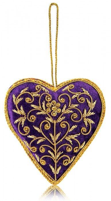 In Fine Style Velvet Floral Heart Tree Decoration
