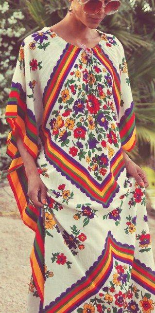 Boho-Stil der 70er Jahre Mode