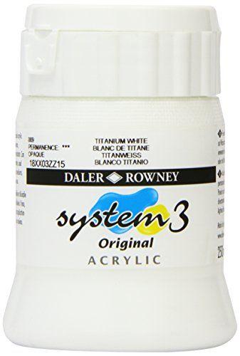 Daler - Rowney System 3 250ml Paint Ink Pot - Titanium White