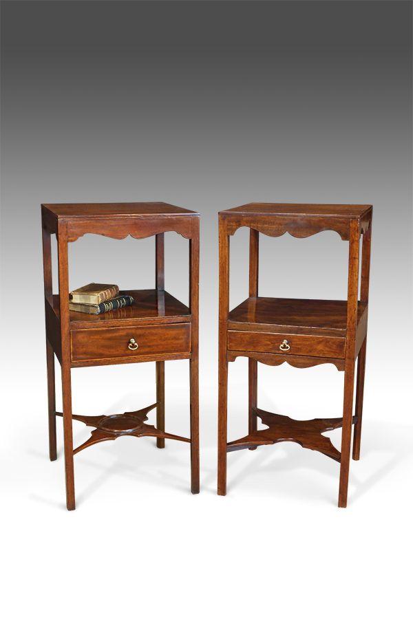 Pair Of Antique Bedside Tables In 2019 Antique Bedside Tables