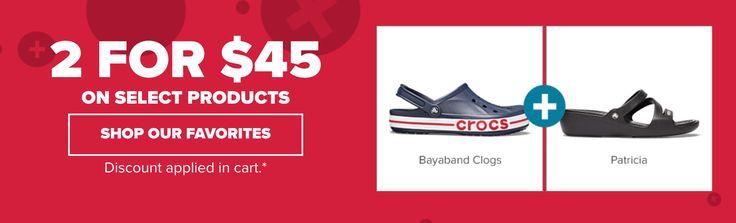Crocs Canada Sale: Mix & Match 2 for $45 https://www.lavahotdeals.com/ca/cheap/crocs-canada-sale-mix-match-2-45/240061?utm_source=pinterest&utm_medium=rss&utm_campaign=at_lavahotdeals&utm_term=hottest_12