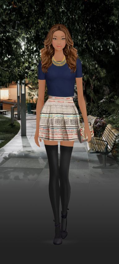 Covet Fashion.  I'd wear this without the stockings.
