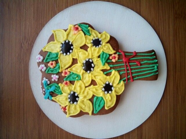 Sunflowers. Gingerbread