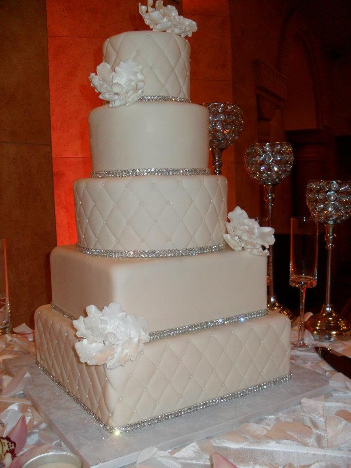 bling cake with quilted pattern My Wedding
