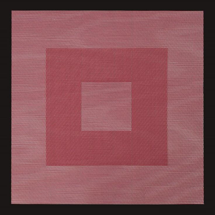 Maty i podkładki kwadratowe na stół w kolorze czerwonym z czarna obwódką