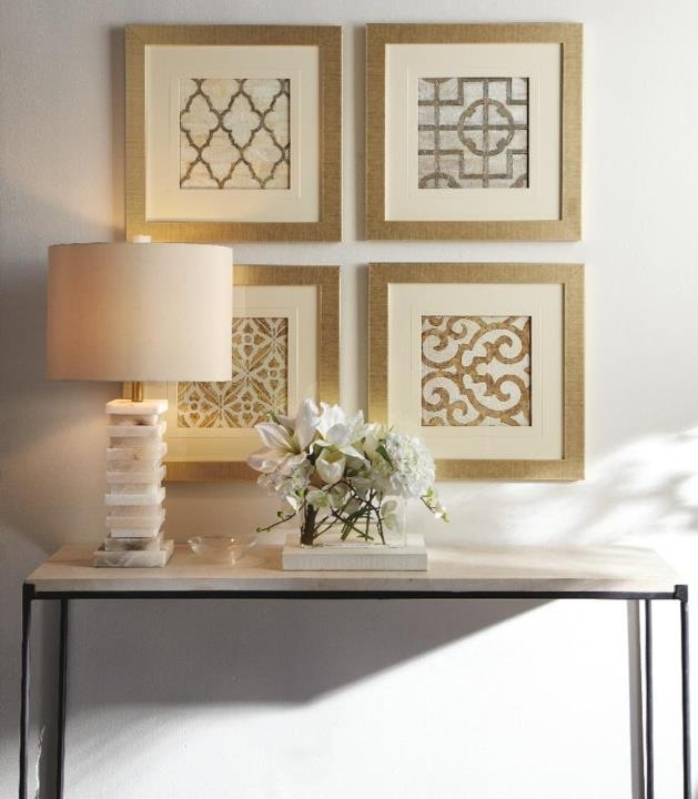 Frames wallpaper samples  Like this just not in gold. I like the monochromatic color palate with different patterns