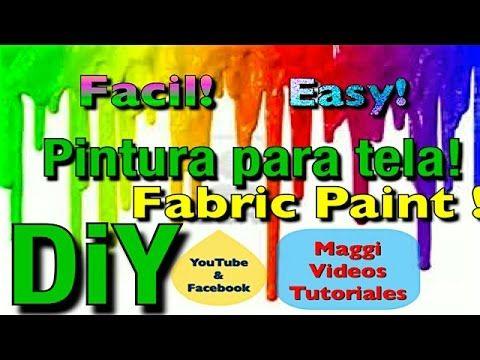 Como Hacer Pintura Casera para Tela - YouTube