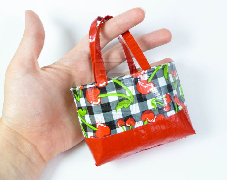 Duct Tape Purse | Tiny Duct Tape Bag - Cherries by ~QuietMischief on deviantART