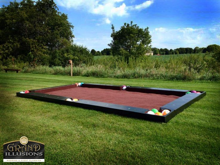 A Grand Illusions exclusive!!  Snook ball is a full size interactive game where you basically play pool with your feet instead of pool cues.   12 x 20 pool table