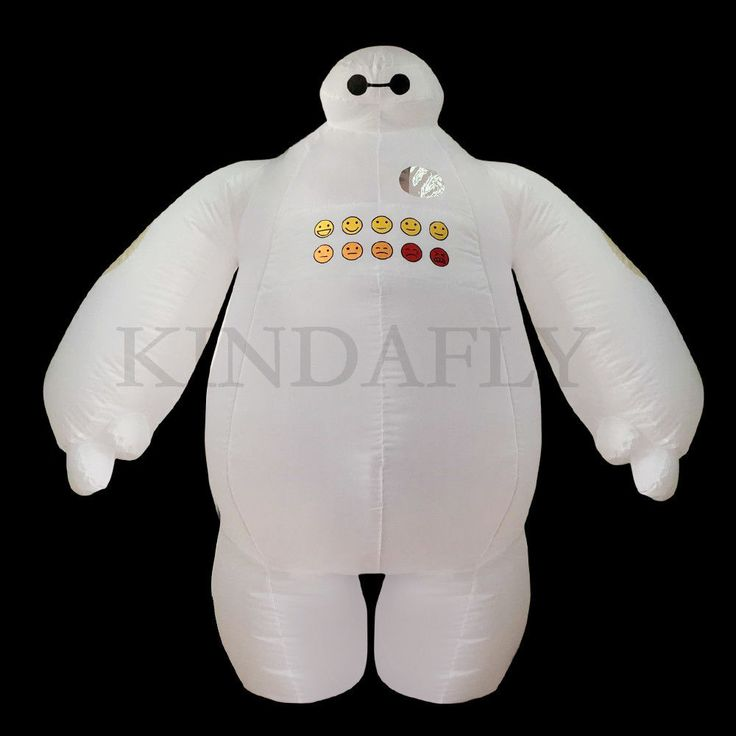 Big Hero 6 Inflatable Baymax Costume Fancy Dress for Women Men Adult Cosplay 2m