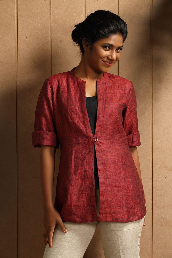 Cannanor Line Jacket: cute jacket, nice style. Looks like it is silk. :)