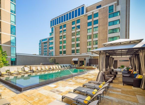 The Highland Dallas Spa, Hotel Pool And Patio