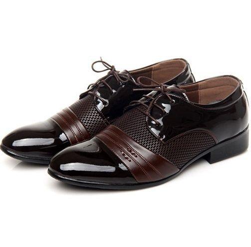 Wish   Vintage Design pentru bărbați casual pantofi de piele (negru, maro)