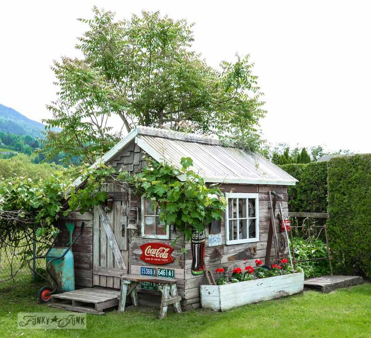 The Little Rustic Garden Shed That Tells a Story