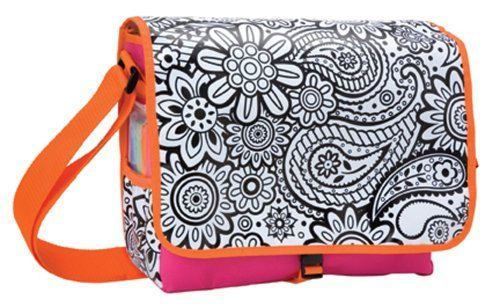 Color a Flower Bag Back to School Messenger Bag by TazzyJazzyKnits, $30.00