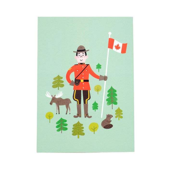 Mountie Postcard by Jacqui Lee for LBC