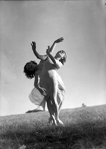 Emmy Towsey (Taussig) and Evelyn Ippen, Bodenwieser Ballet in Centennial Park, Sydney, ca. 1939 / Max Dupain by State Library of New South Wales collection, via Flickr