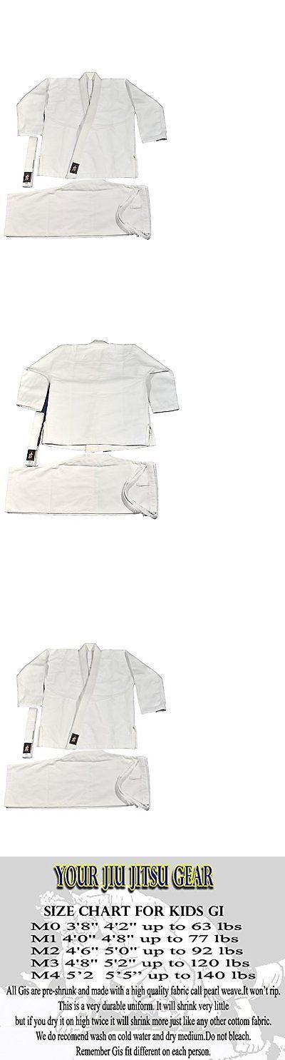 Uniforms and Gis 179774: Jiu Jitsu Gear Brazilian Jiu Jitsu Kids Uniform White With Bjj White Belt (M2) -> BUY IT NOW ONLY: $37.6 on eBay!