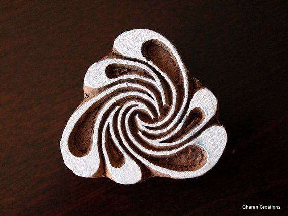 Wood Block Stamp, Tjaps, Indian Wood Stamp, Pottery Stamp, Textile Stamp, Printing Stamp -Abstract Triangular Form