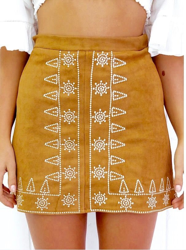 Bohemian Embroidery Skirt from PASABOHO