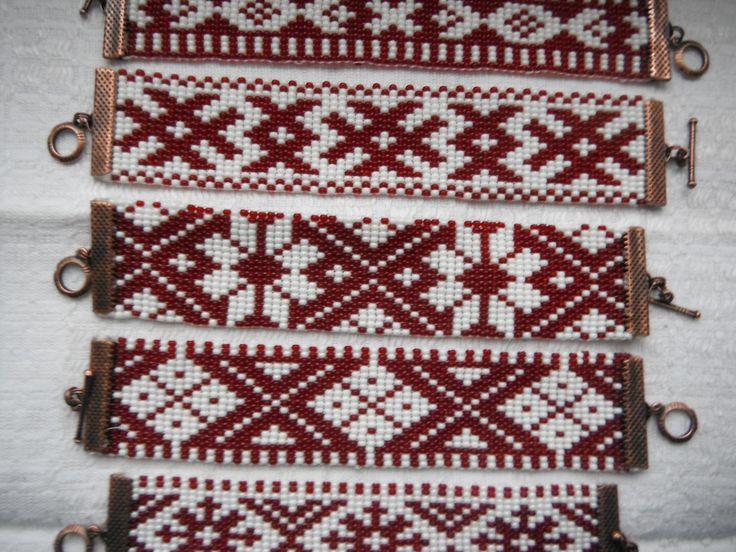 Latvian traditional designs traditionally hand woven Rokassprādze~Bracelets