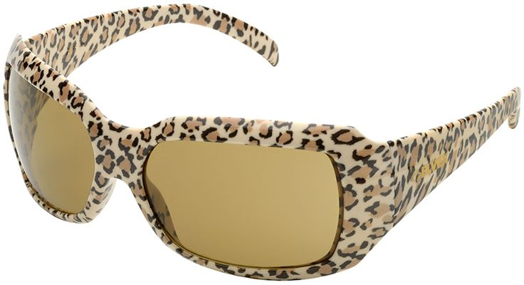Elvex chica safety glasses with leopard frame and brown