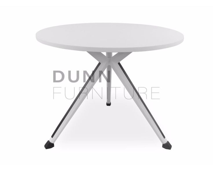 Sonic Round Meeting Table White – Dunn Furniture