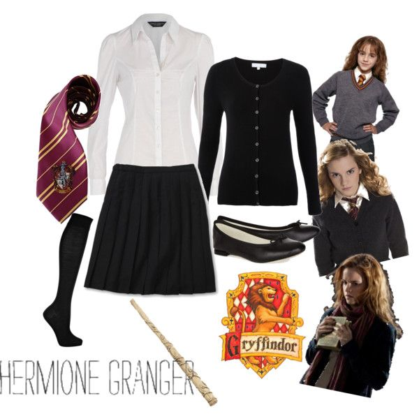 Hogwarts Uniform - Gryffindor / Hermione Granger, created by bea-lovegood on Polyvore
