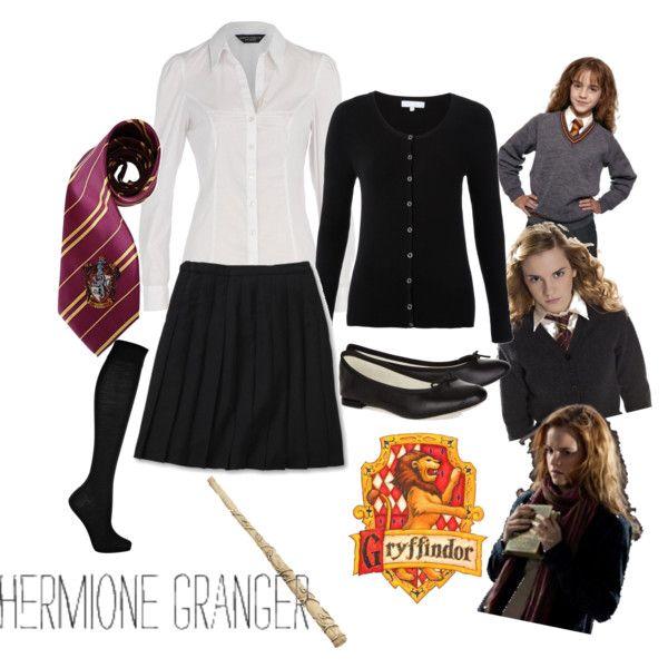 Hogwarts Uniform - Gryffindor / Hermione Granger, created by bea-lovegood on Polyvore