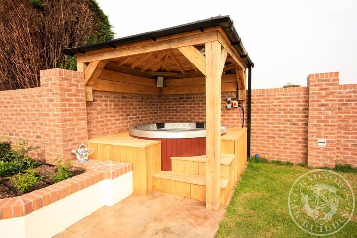 19 best oak gazebos pavilions images on pinterest for Hot tub shelters