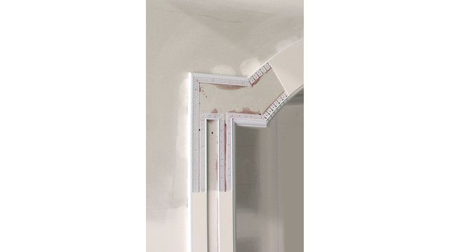 Trim-Tex vinyl corner beads can be used to create drywall art.