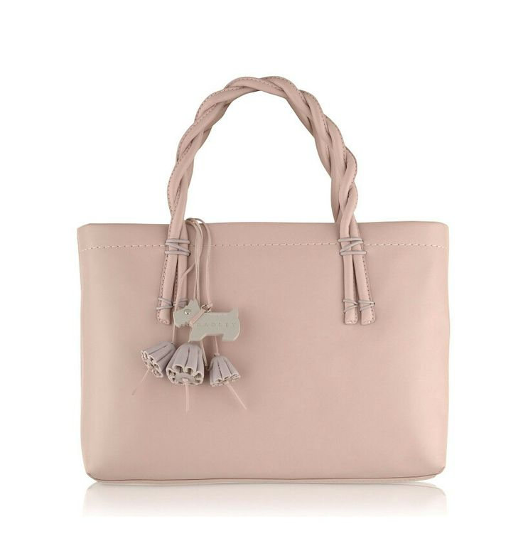 Pink Radley Bag DZ - lightest romantic loved the plaited handle but too boxy.He thought the dog tag was cute