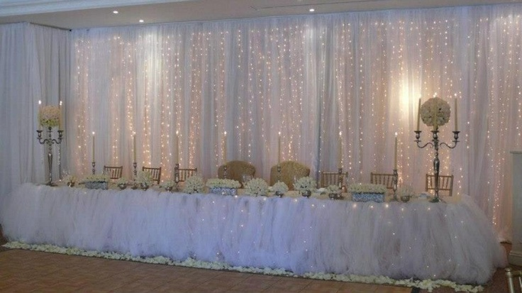 Curtain Draping With Fairy Lights Draping And Decor
