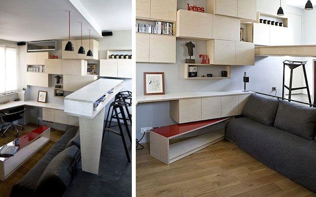 Las 25 mejores ideas sobre espacios ocultos en pinterest - Cama escondida en mueble ...