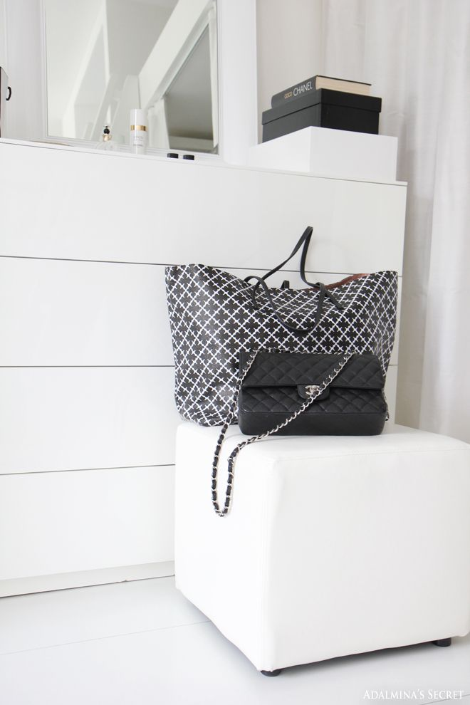 Walk in closet, Chanel and by Malene Birger bags - Adalmina's Secret